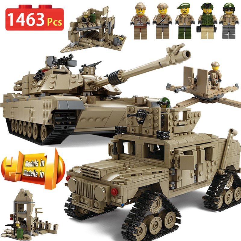 KAZI New Theme Tank Building Blocks 1463pcs Building Blocks M1A2 ABRAMS MBT KY10000 1 Change 2 Toy Tank Models Toys For Children 1643 pcs kazi tank building blocks blocks m1a2 abrams mbt ky10000 creative 1 change 2 tank toys compatible legoinglys gifts
