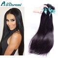 3 pacotes 7A grau Cabelo Virgem Malaio Cabelo Humano Em Linha Reta Tece 1b do cabelo da malásia cabelo liso preto Natural