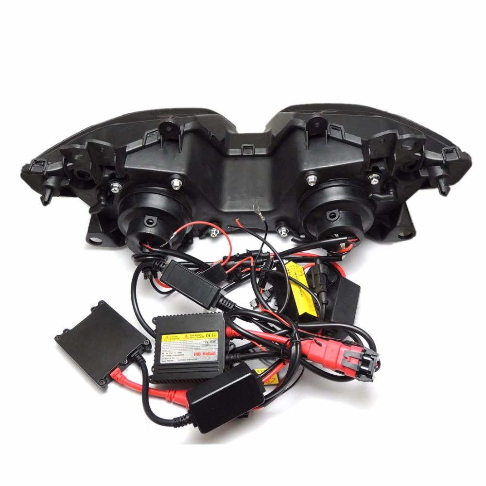 2013-2016 Ninja250 Ninja300 ZX6R Angel Eye HID Projector Custom Headlight Assembly for Kawasaki Ninja 300 ZX-6R 2013-2016 (13)