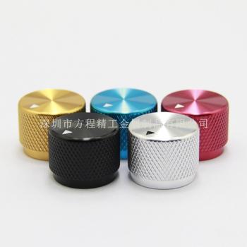5 sztuk aluminiowa gałka radełkowana pokrętło potencjometru 20*15 5*6mm cap potencjometr pokrętło głośności kapturek przełącznika dla wzmacniacz HI-FI tanie i dobre opinie Aluminum