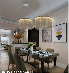 Image 2 - Modern  high   end villa art personality lamps simple atmosphere chain chandelier Nordic bedroom living room restaurant lights