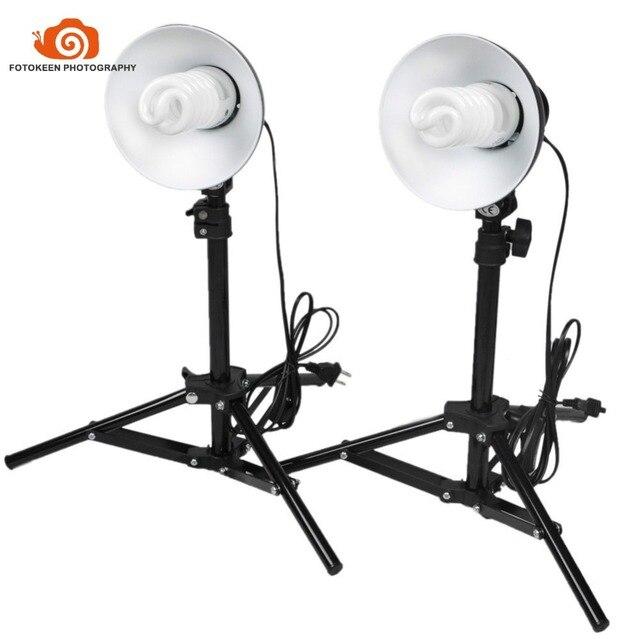 portable photo studio lighting kit dual table top mini continuous