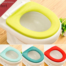 ISHOWTIENDA 1PC Bathroom Toilet Seat Closestool Washable Soft Warmer Mat Cover Pad Cushion Vovotrade High Quality Toilet Cover