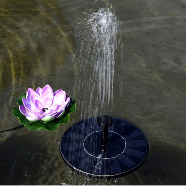 Floating Solar Fountain Panel Kit Garden Fountain Water Pump For Bathing  Pool Watering Wide Irrigation Pump