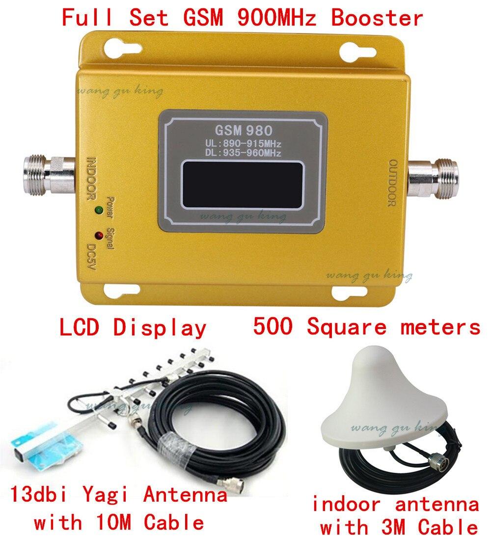 10 M câble + antenne yagi 70dbi gsm répéteur 900 Mhz amplificateur de signal répéteur GSM, amplificateur de signal GSM 900 mhz