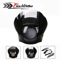 ABS Quarter Fairing Kit Black For 1988 later Sportster XL 883 1200 86 94 FXR 95 05 Dyna models Fat Bob Super Glide