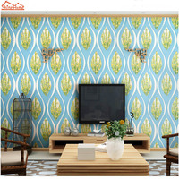 ShineHome 10m Peacock Feather Damask Large 3D Wall Murals Wall Paper Home Decor Living Room Bedroom Baby Wallpaper Roll Size
