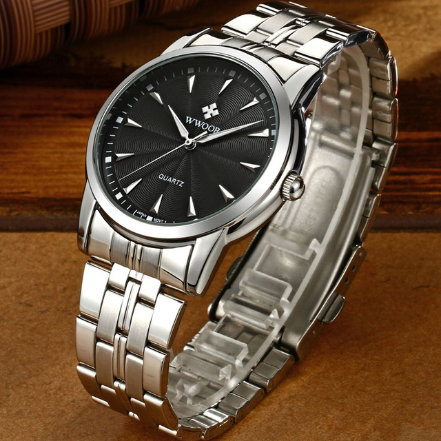 Quartz Watch Men 50 M Waterproof Mens Watch WWOOR 8028 MIYOTA 7T35 Movement Simple Wristwatches with Watchband Fixing Tool 2018