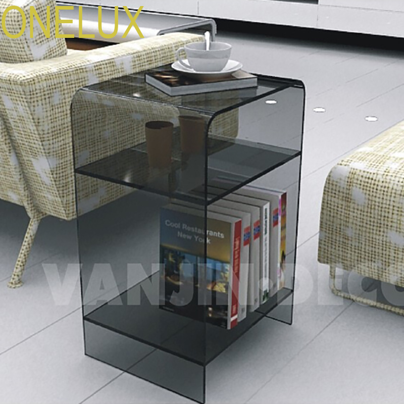 Multi-color Acrylic nightstand with magazine rack, Lucite bedside cabinet sofa tables все цены