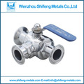 DN32 Sanitary stainless steel ss304  threaded tee with straight end Ball Valve