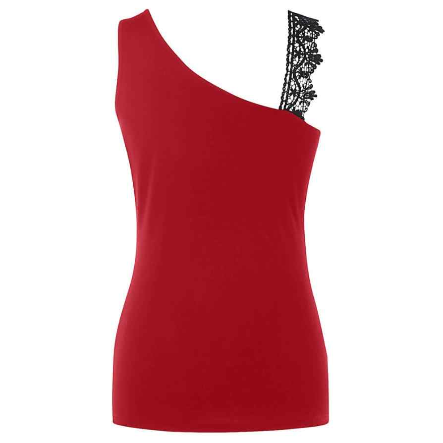 0640a8d4 ... Womens tank top Fashion hot girl vest Lace shiny Glittering Skew Collar Sequined  Tank Tops Sleeveless