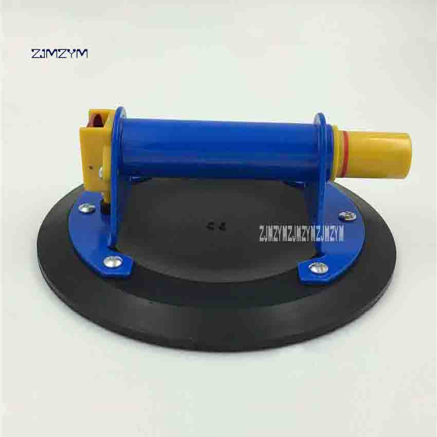 ZJMZYM New Arrival 206mm Hand Pump Glass Single Claw Sucker 304 # Stainless Steel Handle Suction Flat Glass Suction Plate 100KG цена