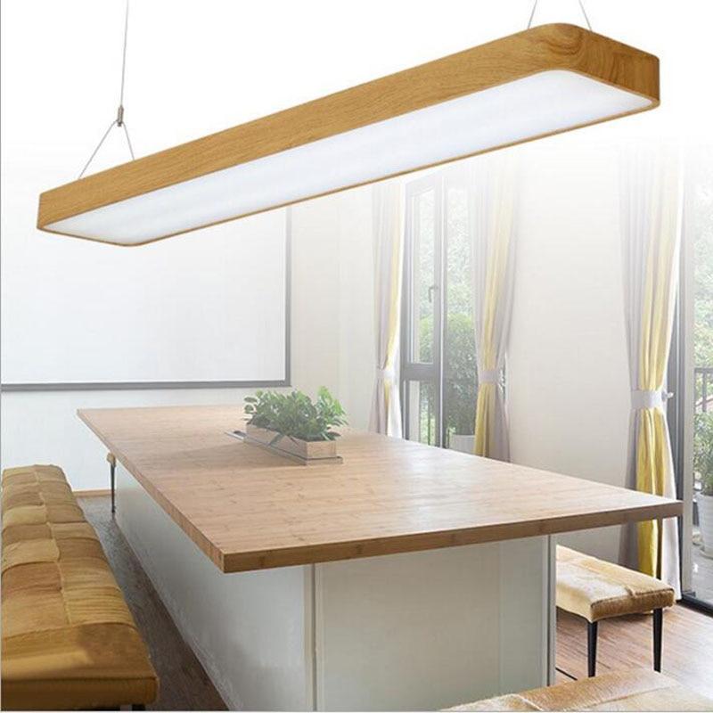 Round led office lights hanging line lights office wood bar lights office ceiling lighting fixture led home fixture hanging led