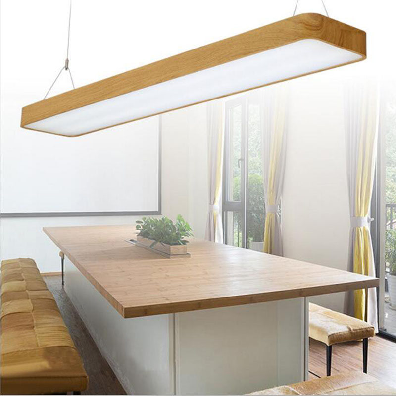 Round Led Office Lights Hanging Line Lights Office Wood
