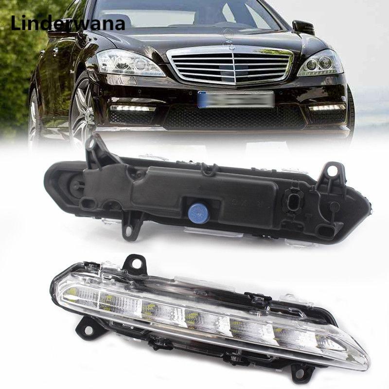 For MERCEDES BENZ W221 C250 C300 C350 R350 S350 S400 S450 S550 S600 S500 CL550 600 AMG 2009-2013  DRL LED Fog Lamps Fog Lights