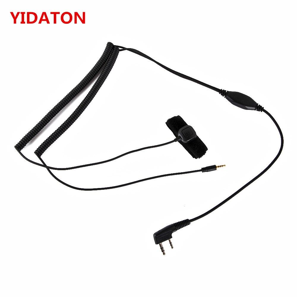 Hełm Bluetooth zestaw słuchawkowy specjalne kabel połączeniowy Vimoto V3 V6 V8 V1098a V5s dla Kenwood Baofeng UV-5R UV-82 GT-3 Two Way Radio