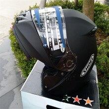 Shoei casco de la motocicleta tirón encima del casco de la cara llena de doble lente de casco de carreras de motocicleta capacete DOT aprobado, Capacete