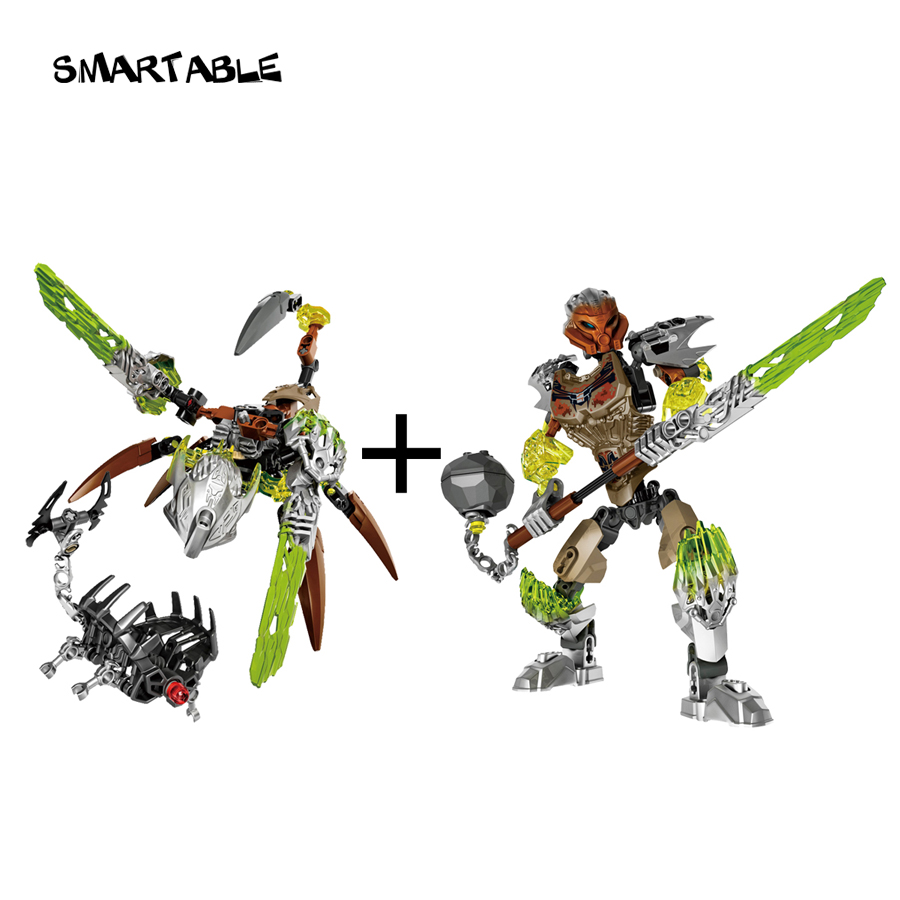 Smartable BIONICLE Ketar Criatura de Pedra + Pohatu Pedra Guardião Da Terra Toy Building Block Compatível legoing 71301 + 71306 BIONICLE