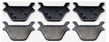 6pcs 3 SETS REAR BRAKE Pads Fits HARLEY FXR FXL FXS FLS XL DYNA SOFTAIL SPORTSTER