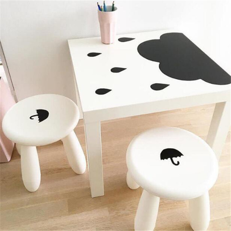 Nordic Style Nursery Decor MDF Kids Chair Cloud And Rain Table Set Children Kids Furnitu ...