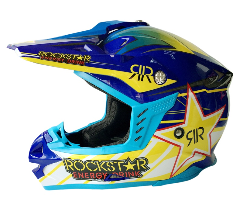 Professionnel Rockstar Motocross Casque Hommes Moto Casco Dirt Bike Rallye Capacete