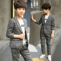 Boys clothes big boy single breasted blazer 2019 new spring children suit for weddings costume enfant school suit 6 to 14yrs