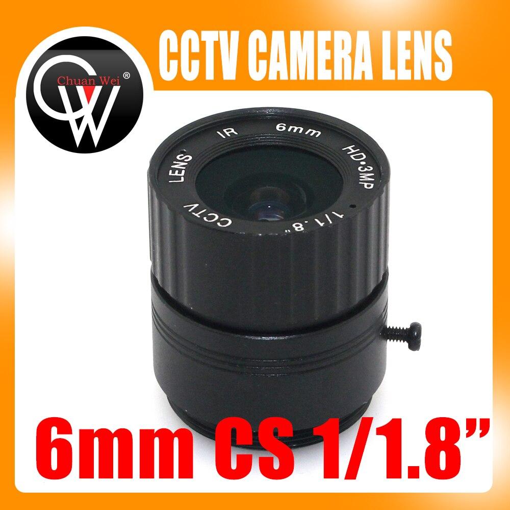 Objectif 3.0 mégapixels 6mm objectif de caméra de vidéosurveillance HD 53 degrés 3MP IR HD objectif de caméra de sécurité pour HD IP AHD HDCVI SDI caméras CS Mount|Pièces pour dispositif de vidéosurveillance|Sécurité et Protection -