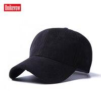 Unikevow זמש Mens כובעים ריקים Snapback כובע בצבע אחיד כובע בייסבול הכובע חיצוני ספורט חורף לנשים