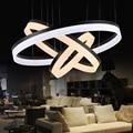 LEVOU Pingente Luzes lâmpadas sala luzes moderno restaurante pingente lâmpadas de iluminação círculo de moda LEVOU 6000 K/3000 K preto/prata