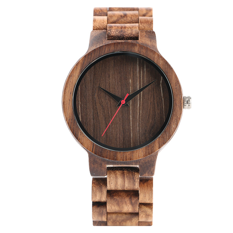 Simple Men Hand-made Natural Wooden Quartz Watches Brown/Black Dial Wood Watchband Bracelet Clasp Casual Wristwatch Gift Male simple minimalism casual men quartz wristwatch number dial genuine leather band cost effective natural wooden design male watch