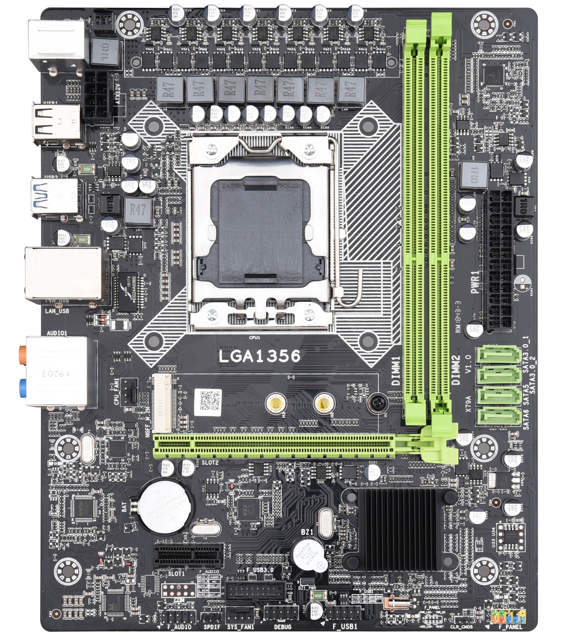 PPYY NEW -X79A Lga 1356 Motherboard Usb3.0 Support Reg Ecc Server Memory And Lga1356 Xeon E5 Processor For Desktop Server Ddr3