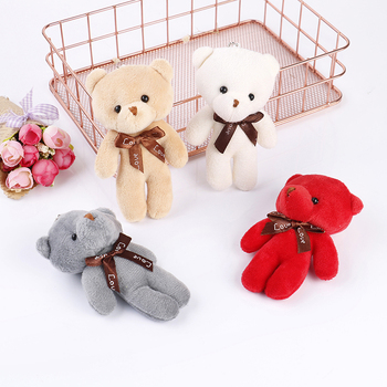 10cm Cartoon Teddy Bear Plush Stuffed Toy Flower Bouquet Joint Mini Teddy Bear For Diy Wedding Home Decor Children Toy Doll Gift Uncategorized Decoration Stuffed & Plush Toys Toys