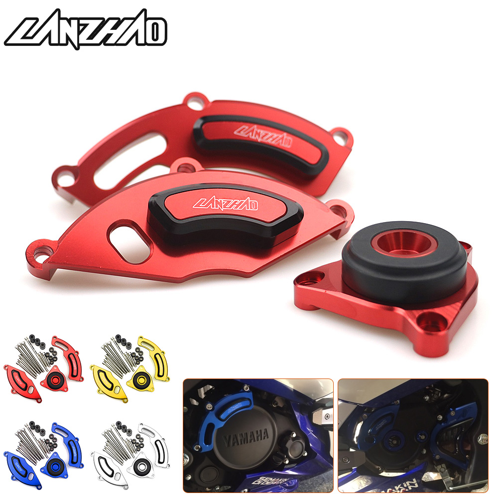 Motorcycle Left Right Engine Guard Side Cover Crash Protectors Red Blue Gold Silver Accessories for Yamaha R15 2015 2016 2017 все цены