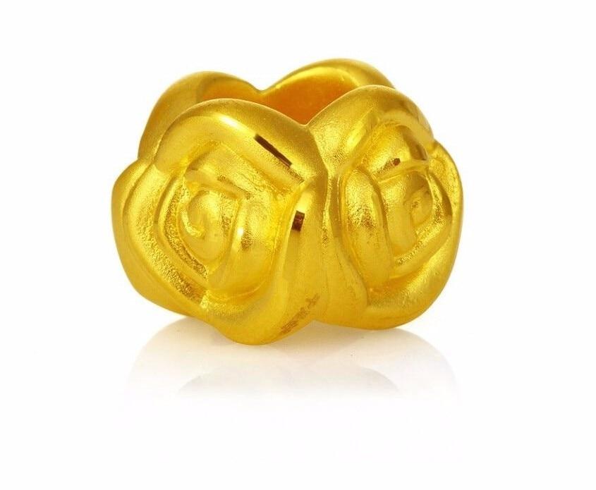 все цены на New Authentic 24K 999 Yellow Gold Pendant /3D Lucky Rose Pendant / 1.18G