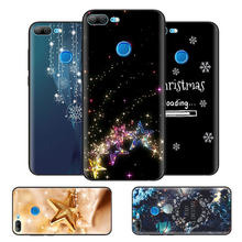 Black Bag Soft Silicone Case Cover for Huawei honor 8X 8C 8A 10 20 Y6 Y9 2019 Lite Play Enjoy 9S 9E 20i Capa Fall Snow Christmas(China)