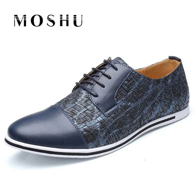 Fashion Men Flats Oxford Breathable Casual Shoes Lace Up Mixed Colors Luxury Brand Plus Size 38-47 Male Shoes Chaussure Homme