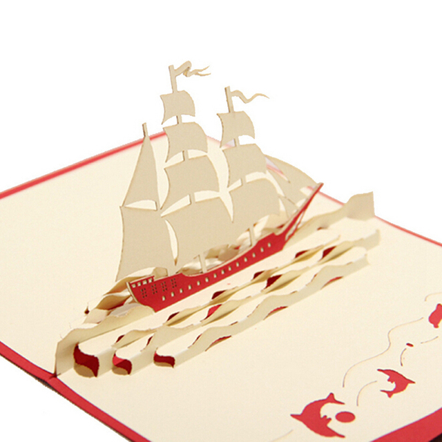 10 pieces lot sailboat designs lovely handmade paper 3d greeting