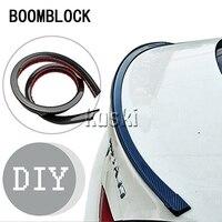 BOOMBLOCK 1set Car Carbon Fiber Tail Wing 3M Stickers For Bmw E46 E39 Audi A3 A6 C5 A4 B6 Mercedes W203 W211 Mini Cooper