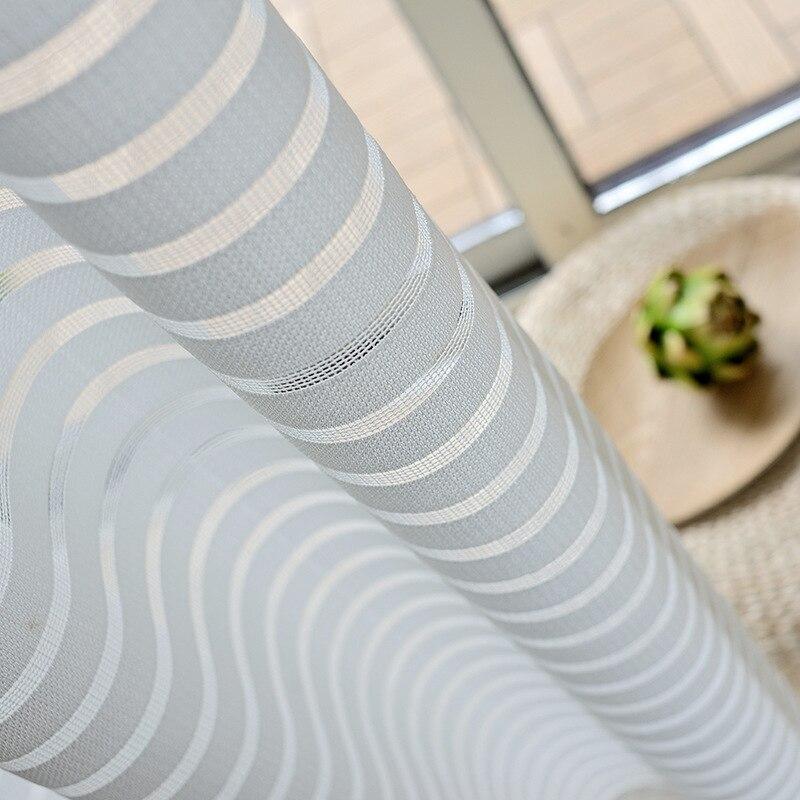Moderne gestreifte Tüll Vorhänge für Wohnzimmer Weiß Voile Kurze - Haustextilien - Foto 5