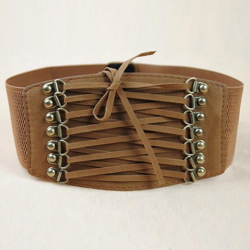 Hot Sale Fashion Women Belts Trench Velvet Retro Rivet Tassel Wide Cummerbund Strap Belt Waist Female Womens Accessories LM58 3