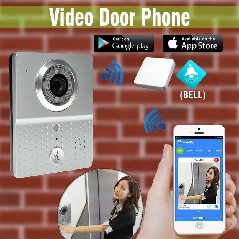 wireless 3G 4G Wifi Doorbell Camera + Indoor Bell Video Door Phone Real Time Talking Photo Video free APP Support IOS android  sc 1 st  AliExpress.com & Door with Camera Wifi Promotion-Shop for Promotional Door with ...