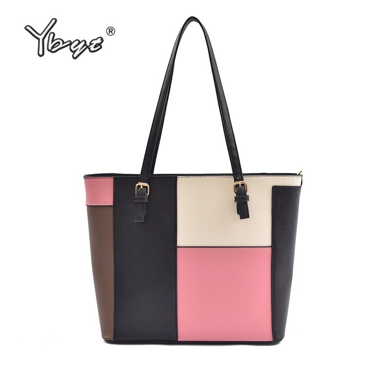 Remiendo bolsas de gran capacidad bolsos de las mujeres de alta calidad totes damas diseñador famoso hombro bandolera torebki damskie