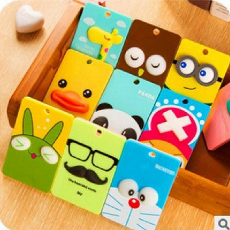 Pu Card Holder Credit Card Bus Card Case Hot Sale Cute Cartoon Panda Duck Monster Design Key Holder Ring Bag Accessories Kt5 Excellent In Cushion Effect Card & Id Holders