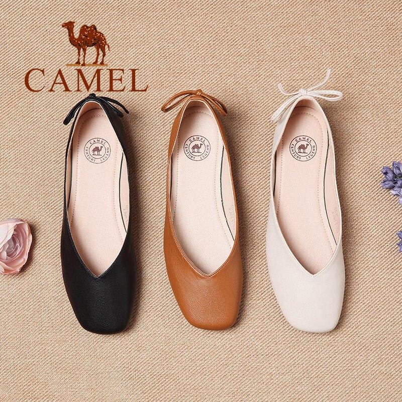 2018 Spring New Arrival Camel Women Casual Ballet Flats Asakuchi Shoes A81514637 ...