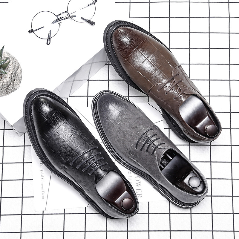 Shoes Man Shoes Business Dress Casual Shoes Man Sharp Wedding Shoes England Leather Shoes Male