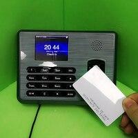 Novo Menu Inglês TX628 ZK tempo Da Impressão Digital Sistema do comparecimento do Tempo Empregado Sistema de Gestão e 125 khz Cartão rfid Time Clock