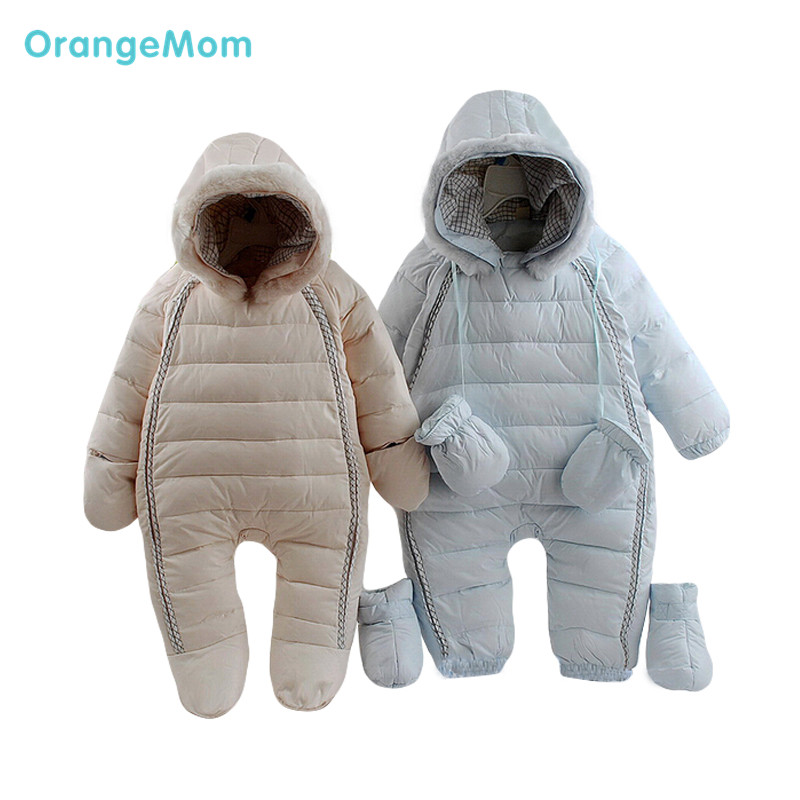 2017 baby boy snowsuit coats toddler down outdoor suit infant winter warm hoody overalls jackets coverall for baby girls clothes winter baby snowsuit baby boys girls rompers infant jumpsuit toddler hooded clothes thicken down coat outwear coverall snow wear