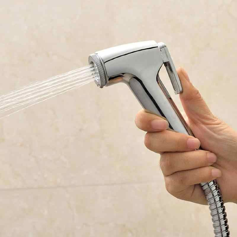 1PCS Handheld Spray Pet Shower Sprayer Head Portable Bidet Faucets Shower ABS Toilet Bathroom Bath For Wash Bathroom Toilets