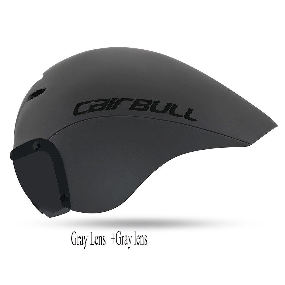 Casque de vélo de course lentilles lunettes Triathlon tri aero casque vélo de route chronomètre casque de vélo Casco Ciclismo avec lunettes METt
