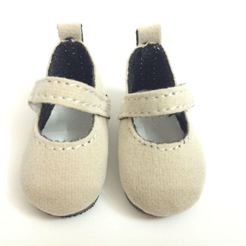 4.6CM BJD 인형 신발 인과 운동화 신발 인형, 옷감 소재 미니 장난감 부츠 1/6 스케일 액세서리 12 쌍 / 로트